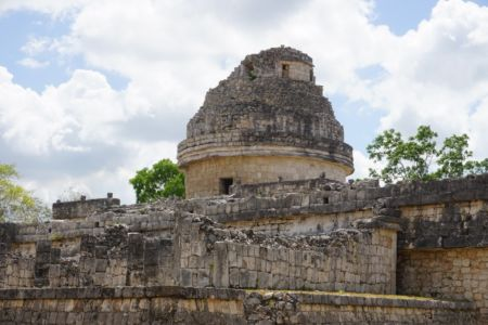 "The ""El Caracol"" observatory temple."